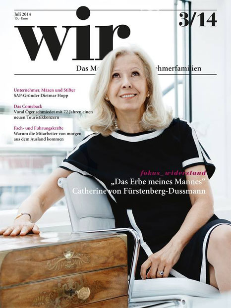 Catherine von Fuerstenberg-Dussmann, FOUNDATION COUNCIL PRESIDENT Dussmann Group by Klaus Lange (WIR MAGAZIN)
