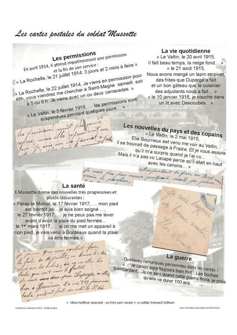 La correspondance du soldat Mussotte