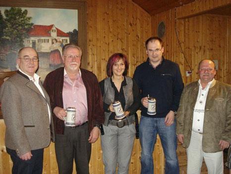 von links nach rechts: Steiner Martin, Schmid Siegfried, Thurner Petra, Wackerl Josef und Loibl Anton