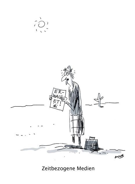 Cartoon von Mock zum Thema Klimawandel Erderwaermung Karikatur Klima