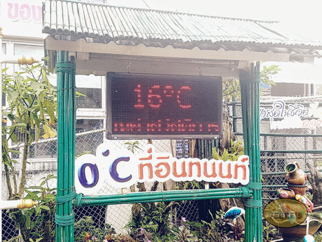 Temperaturen im Doi Inthanon National Park