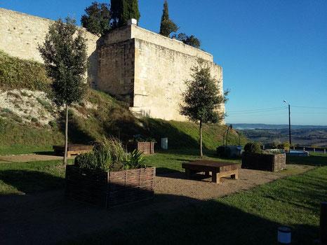 Pique-nique champêtre au jardin pastelier de Puylaurens en Pays de Cocagne, que faire à Puylaurens, que faire à Dourgne, office de tourisme