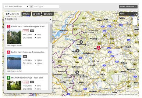 Interaktive Karte - klick an, dann oben rechts auf KARTE klicken.