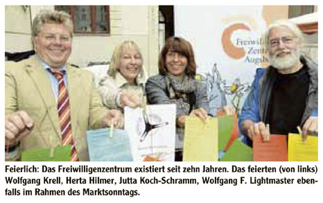 10 Jahre Freiwilligen-Zentrum Augsburg im Bürgertreff- Bürgerhof 2014 - Presse AZ 29.09.14