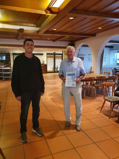 Ehrung für 40 Jahre Mitgliedschaft - Gerich Xaver