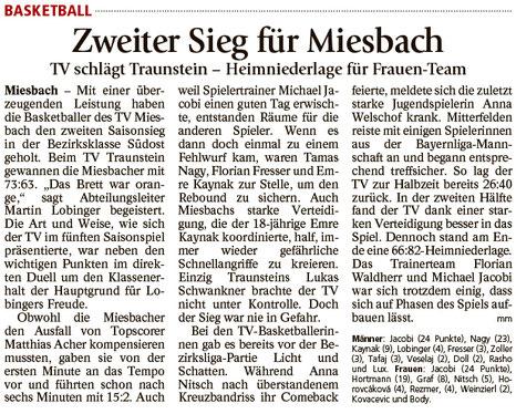 Bericht im Miesbacher Merkur am 21.11.2017 - Zum Vergrößern klicken