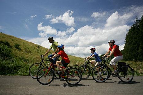 Radfahren für die Familie, mit Spaß die Natur erleben
