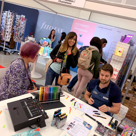 Chameleon Art Products vendor booth at Plannercon Europe 2019