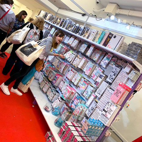 Happy Planner sticker books at Craftelier´s vendor booth at Plannercon Europe 2019