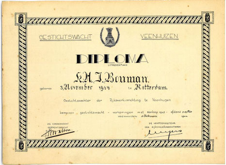 Diploma verspringen