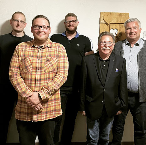 v.l.n.r.: Michael Knierim, Christoph Krob, Pascal Biedorf, Rüdiger Kelm, Ralf Gerz