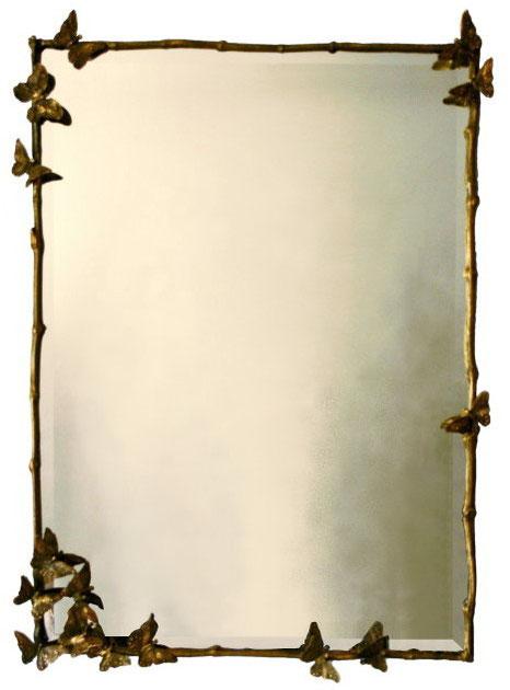 Bronze frame, mirror, 125 x 82 cm