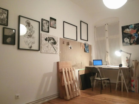 studio, artwork, painting, drawing, creative, working space, berlin, artist