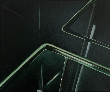 o.T, 2021, Öl auf Leinwand, 25x 30 cm