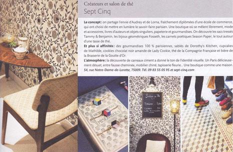 Les bracelets Damier sont dans le magazine Côté Paris de septembre 2014