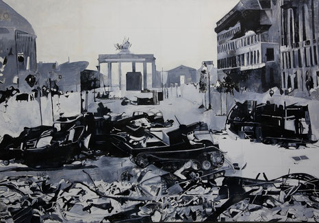 """Berlin 1945"", acrylic / oil on canvas, 200 x 295 cm, 1994"