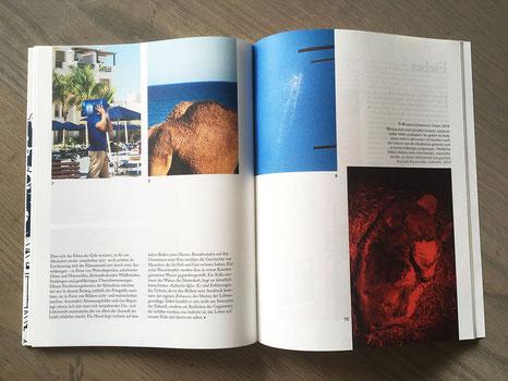 »Global Warning« (UND-Magazin, #8 »Scheiße, voll warm draußen«, 2020)       in Zusammenarbeit mit Marit Herrmann, Verena Meyer &  Ann-Kristin Ziegler