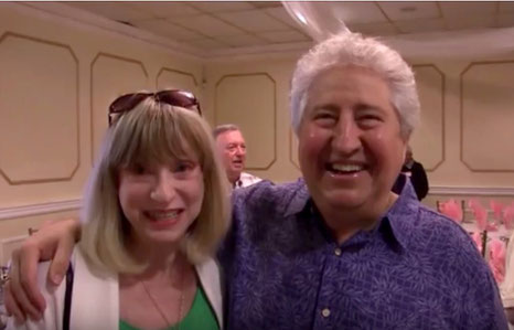 2016 ; Mischa with Barbara Cohen at the Glow's  50th Celebrations