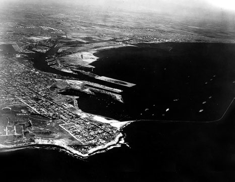 1929 ; San Pedro Coastline & Los Angeles Harbour, also Long Beach