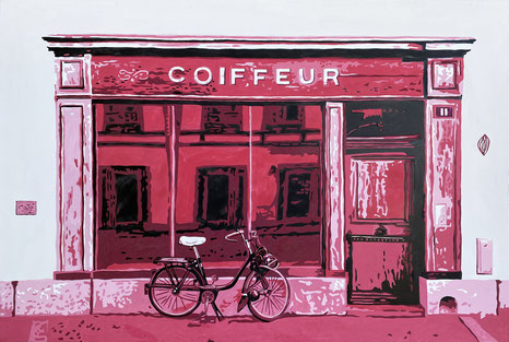Painting ink pink coiffure