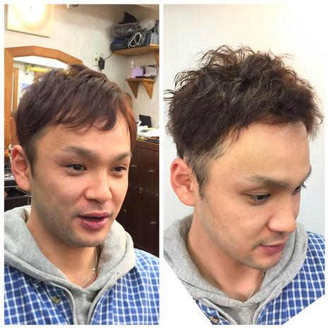 【横浜・美容室】ヘルメットで潰れてしまう髪型にはパーマでお悩み解消