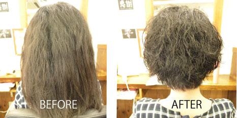 脱縮毛矯正にはくせ毛カットは欠かせない