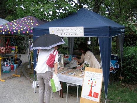 2013年7月13日 京都 平安楽市 手作り市に出展しました。