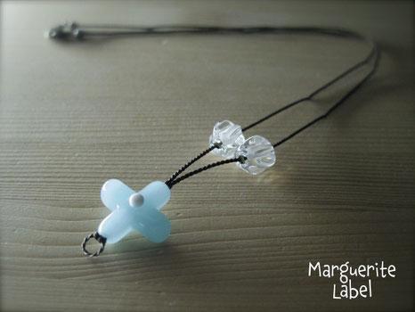 Sky Blue / Glass Beads Necklace