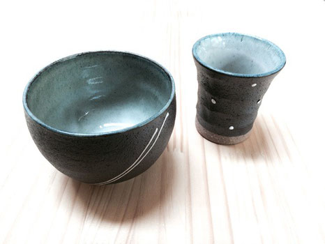 手作り市でみつけたミニ茶碗