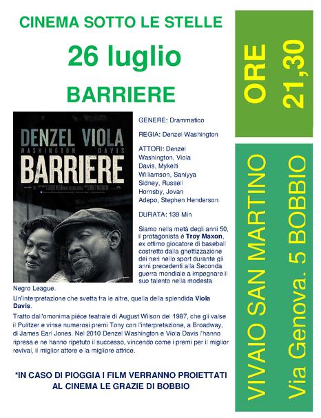 Bobbio Cinema sotto le stelle Estate 2017