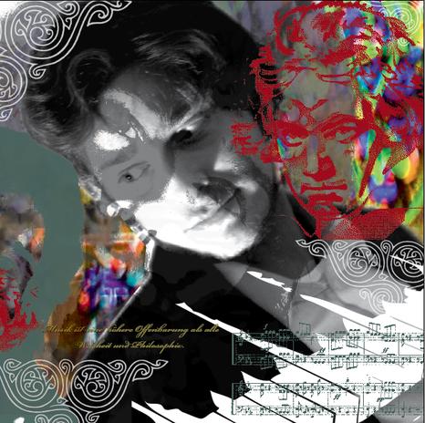 Vorgaben: Klavier, Musik, Beethoven, rot, mystisch-tiefsinnig, introvertiert aber expressionistisch...