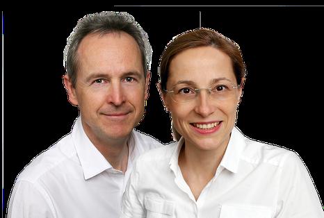 Dr. Christoph Sander und Dr. Natividad Morente, Zhanärzte in Villingen-Schwenningen, Zahnarzt in Musterstadt (© Stock Müller, Freiburg)