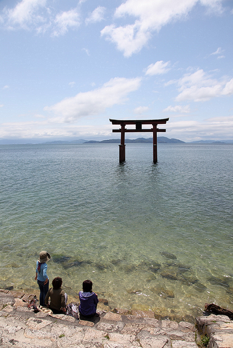 Shirahige Shrine at Lake Biwa