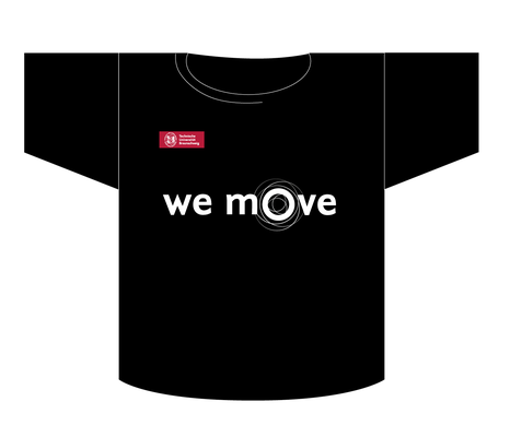 Umsetzung des Logos in vereinfachter Form für das T-Shirt