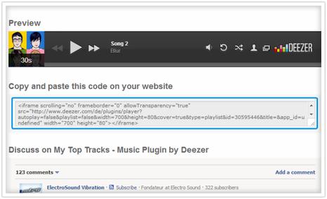 Copier le code sur votre site dans un élément widget/html