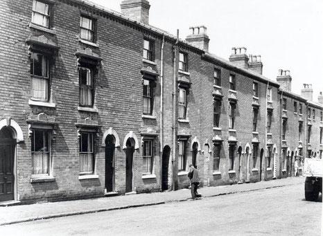Alexandra Street, a typical 19th-century Ladywood street, now demolished