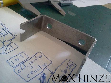 Röhrenglockenhalter aus Edelstahl, selbst gebaute Röhrenglocken, DIY tubular bells, Max Hinze