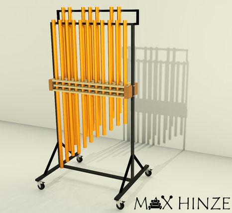 selbst gebaute Röhrenglocken - 3D- Modell, S´ketchup, Brighter3D, Max Hinze, DIY tubular bells
