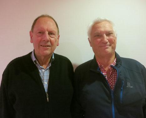 Sieger Ulli Rönz und Spielleiter Albert Vosseler