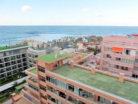 Ausblick von der Stadtwohnung zum Meer