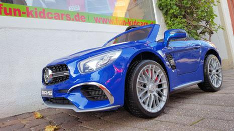 Mercedes AMG SL65/Kinderauto/Kinder Elektroauto/Kinderautos/Kinder Elektroautos/Kinder Auto/blau lackiert/lizensiert/