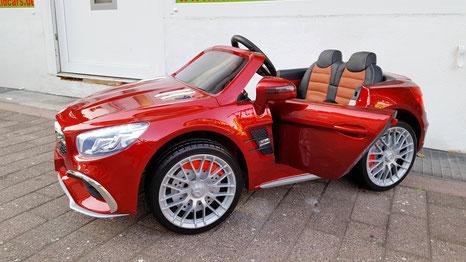 Mercedes AMG SL65/Kinderauto/Kinder Elektroauto/Kinderautos/Kinder Elektroautos/Kinder Auto/weinrot lackiert/lizensiert/