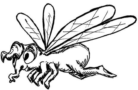 Emma sieht aus wie eine Fliege mit Rüssel, ist jedoch ein musikalisches Einhorn. Sie könnte mit einer pupsenden und rülpsenden Hummel verwechselt werden.