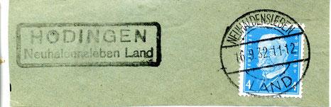 Poststempel von Hödingen aus der 1. Periode (Land)