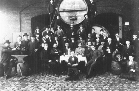 1904: Die Germania-Brauerei an der Grevener Straße - Foto Stoffers (Sammlung Münsterländische Bank Thie - Stadtarchiv)