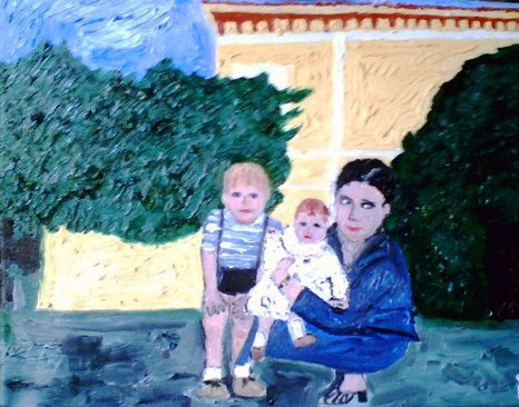 FAMIGLIA  - 2008 - olio su tela25 x 35