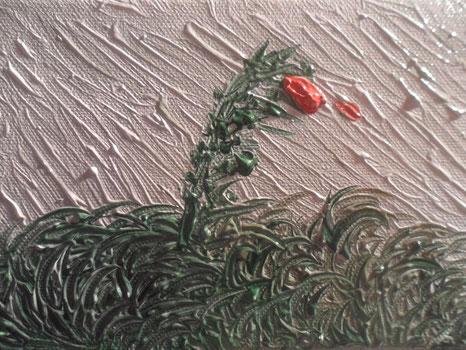 IL VENTO E L'ULTIMA ROSA - 2012 olio su tela 13 x 18