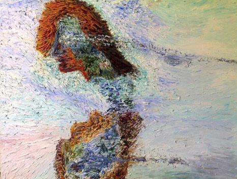 LACRIME - 2008 olio su tela 45 x 75
