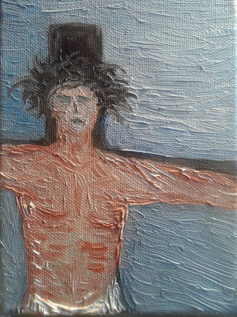 CRISTO 2012 olio su tela 13 x 18