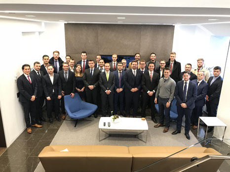 Students of the MSc in Fiance in Liechtenstein: Lukas Salcher, Michael Fleisch, Nicola Betzler, Artur Maibach, Atdhe Hoxha, Lars Kaiser, Faruk Türk, Dominik Horngacher, Milan Obradovic, Christian Schemeth, Hubert Hauser, Patrick Fischer, Sascha Matzner